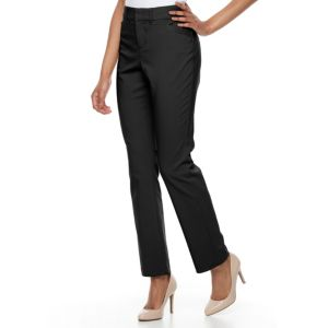 Petite Gloria Vanderbilt Haven Microtech Straight-Leg Pants!